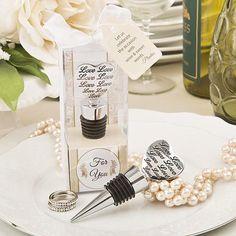 'Love' Engraved Bottle Stopper - Purple Swan Gifts