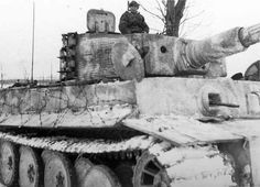 Tiger I number 132 of Schwere Panzer Abteilung 501 winter camo eastern front.