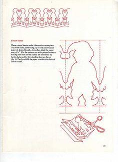 Santa paper chain pattern {vintage Elf pattern by AnastasiaC @ percivalroad, via Flickr}