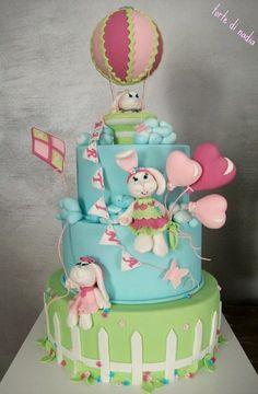 Bunny baby shower  Cake by tortedinadia