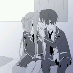 Sword art online favorite anime asuna and kirito (forgive my spelling)
