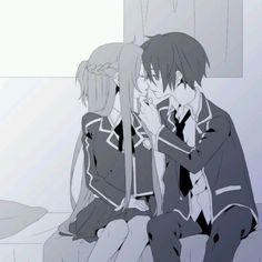 Sword art online favorite anime asuna and kirito (forgive my spelling)