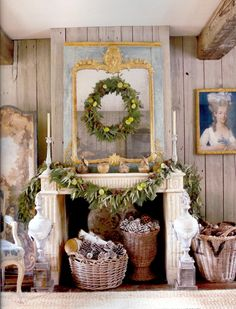 Fresh limes, pine and eucalyptus boughs fill rooms with fragrance.