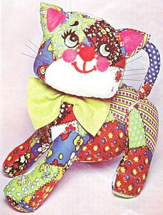 Vintage BUCILLA CALICO CAT HUG ME TOY Cloth & Embroidery KIT 8672 15 Inches Tall #Bucilla
