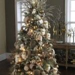 Beautiful Forest Frost Christmas Trees Decorating Ideas Pictures