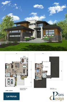 Modern style home plan #twostoreyhomeplans #modernarchitecture