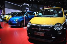 Fiat 500 Comics, the show car on stage at the Mondial de l'Automobile.