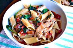 Italian Chicken and Spinach Pasta Skillet