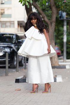 fashion ideas for women,fashion ideas for work,fashion ideas casual,unique fashion ideas #fashionideascreative White Fashion, Unique Fashion, Womens Fashion, Bold Fashion, Fashion Killa, Fashion Trends, Fashion Ideas, Culottes, Contemporary Fashion