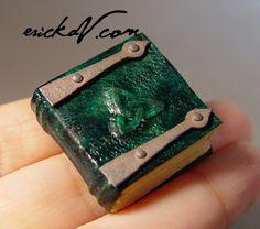 Triquetra Leather Book with Hinges miniature  erickav.com evminiatures