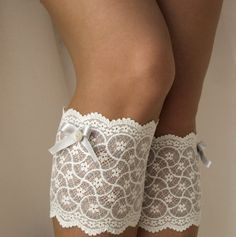 Lace Boot Cuff Socks, White on grey with light grey bow - boot topper - wellies boot cuff , lace leg warmers/ READY TO SHIP