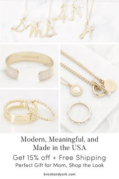 Shop personalized and handcrafted jewelry for the the perfect gift idea for mom … - DIY Jewelry Crafts Ideen Jewelry Gifts, Jewelery, Fine Jewelry, Jewelry Making, Mom Jewelry, Jewelry Necklaces, Bracelets, New York Christmas Gifts, Christmas Ideas