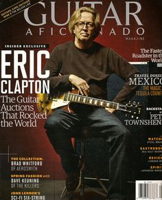 Eric Clapton on the cover of the January/February 2013 issue of Guitar Aficionado