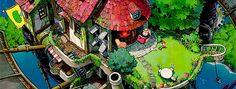 Howl's moving Castle, epilogue, cue the swell of music (symphony) Hayao Miyazaki, Totoro, Shiro, Nausicaa, Japanese Animated Movies, Studio Ghibli Movies, Castle In The Sky, Old Anime, Howls Moving Castle