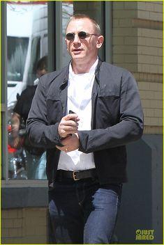 Daniel Craig Goes Motorcycle Shopping