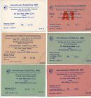 #Ticket  6 Orig.Tickets FC CARL ZEISS JENA  IFC / EC 1987  1989  unused !! TOP #nederland
