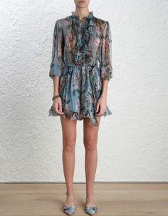 Zimmermann Winsome Ruffle Playsuit Coming Soon. Model Image.  Our model is 5 8 and is wearing a size 0