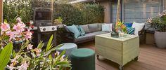 Shop the Look: een onderhoudsvriendelijke, groene loungetuin - Eigen Huis en Tuin Outdoor Sectional, Sectional Sofa, Outdoor Furniture Sets, Outdoor Decor, Garden Inspiration, Relax, Patio, Modern, Home Decor