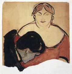Edvard Munch (Norwegian: 1863-1944) - Young Man and Prostitute, 1893
