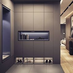 display items Hole for display items Wardrobe in the bedroom. Have a look at this article about Liza Rachevskaya Shoe Cabinet Entryway, Shoe Cabinet Design, Cupboard Design, Entryway Storage, Shoe Storage, Wardrobe Room, Wardrobe Design Bedroom, Closet Bedroom, Design Apartment