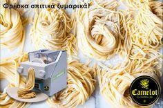 Με τον ΝΕΟ ΣΥΓΧΡΟΝΟ παρασκευαστή φρέσκων ζυμαρικών Camelot casa di Fresco Pasta της CAMELOT μπορείτε πλέον να δημιουργήσετε τα πιο υγιεινά, γευστικά και φρέσκα ζυμαρικά μέσα σε λίγα λεπτά πανεύκολα.