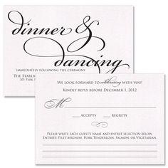 Letterpress Reception Card Lettra Reception Wedding and Wedding