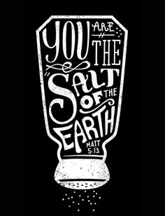 """Salt and Light"" by graphic designer Sel Thomson"