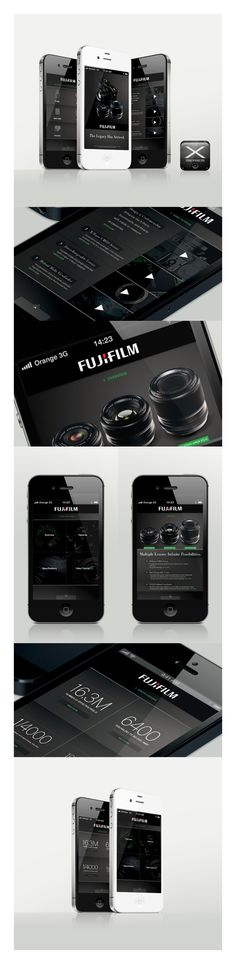 Mobile Concept: Fujifilm X-Series by Paul Cirigliano, via #Behance #Mobile #Digital #UI