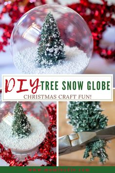 This DIY snow globe is a fun Christmas craft project. It features a little Christmas tree in a blanket of snow. DIY Snow Globe This is a waterless snow globe craft project. The little tree Snow Globe Crafts, Diy Snow Globe, Christmas Snow Globes, Christmas Jars, Diy Christmas Tree, Christmas Garden, Christmas Canvas, Christmas Snowflakes, Christmas Items