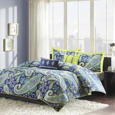 Melissa Reversible Comforter Set in Blue - BedBathandBeyond.com