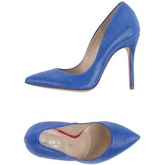 Sergio Levantesi Court (€97) ❤ liked on Polyvore featuring shoes, pumps, pastel blue, genuine leather shoes, heels stilettos, animal shoes, stiletto shoes and blue stilettos