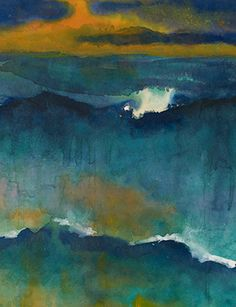 Emil Nolde, Heavy Seas at Sunset