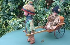 VIDEO Roullet Decamps Clockwork Lady Doll In Rickshaw automaton bing 1890 Classic Toys, Baby Strollers, Dolls, Antiques, Children, Vintage, Baby Prams, Baby Dolls, Antiquities