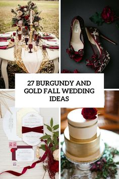 burgundy and gold fall wedding ideas cover