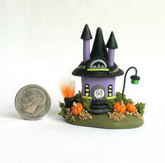 Miniature Halloween Fairy Witch House OOAK by by ArtisticSpirit