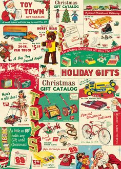 Cavallini Vintage Christmas Toys Wrapping Paper: Amazon.co.uk: Office Products