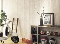 Wallpaper vintage white wood pattern by 2.5m  by WallDecalSticker