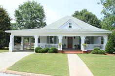 Hiline home plans elegant e story house with wrap around porch my Farmhouse Remodel, Farmhouse Plans, House With Porch, House Front, Front Porch, Carport Designs, One Story Homes, Exterior Makeover, Story House