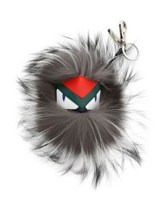 Fur Monster Charm For Bag, Blue/Gray by Fendi at Neiman Marcus.
