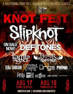 Slipknot will be broadcasting last show of 2012 online via 'Pay Per View', at the first-ever Knotfest, a 2-day 'European-style' metal festival.