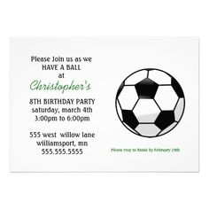 This Deals Childrens Soccer Birthday Party Invitations Yes I can say you are on right site we just collected best shopping store that have Soccer Birthday Parties, Kids Birthday Party Invitations, Soccer Party, 8th Birthday, Birthday Party Themes, Popular Birthdays, Birthday Design, Baby Shower, Party Ideas
