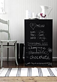 Easy, Cheap DIY: Chalkboard Your Mini Fridge!