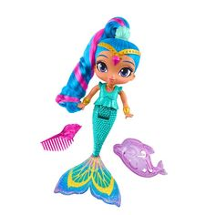 Amazon.com: Nickelodeon 9 inch Shimmer and Shine - MAGIC MERMAID SHINE Doll - Hair Changes Color. Inspired by an Episode where Shimmer and Shine Magically Transform into Mermaids!: Toys & Games
