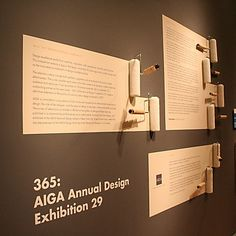 365:AIGA Annual Design Exhibition Display Design, Booth Design, Sign Design, Wall Design, Design Room, Interior Design, Interactive Exhibition, Exhibition Stall, Exhibition Display