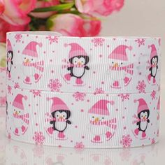 50 Yards 7/8' Cute Snowman Cartoon Printed Christmas Ribbon DIY Party Decoration Pink *** Check out this great item.