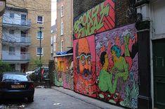 Broken Fingaz Crew street art London
