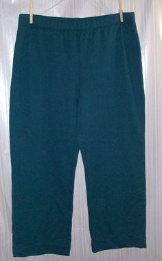 SILVERWEAR NEW YORK Ladies Size XL Teal Pants #silverwearnewyork #CasualPants