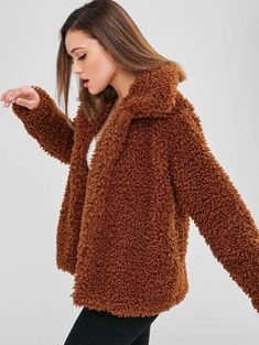 Fluffy Faux Fur Short Winter Teddy Coat Christmas 2018