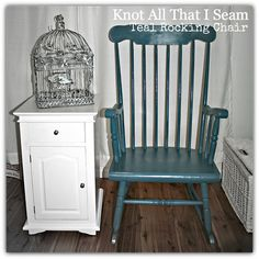 Restyle Relove: Teal Blue Rocking Chair Transformation!