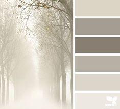 foggy tones (design seeds) The photo and these tones inspire me. Design Seeds, Colour Pallette, Colour Schemes, Grey Palette, Color Combinations, Color Balance, Colour Board, Color Swatches, Neutral Colors